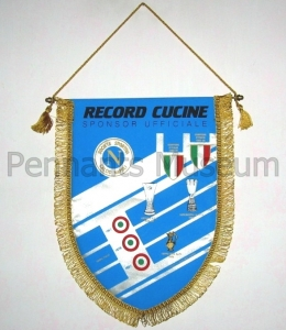 Printed pennant in use in 90s with sponsor name Record cucine