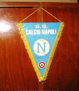 Printed pennant issued in late 70s commemoration victories of the Italian F.A. cup in 1962 and 1976