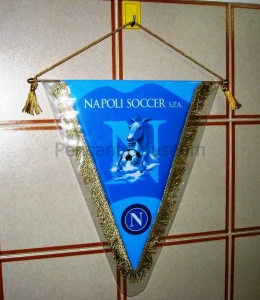 Printed pennant in use in the 2000s with new club name Napoli Soccer