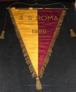 AS ROMA: Embroidered pennant issued in 1960