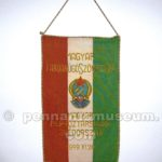 Embroidered pennant of the match Hungary vs Sweden played in 1949
