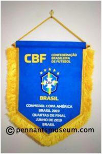 GAGLIARDETTO DEI QUARTI DI FINALE COPPA AMERICA 2019 BRASILE - PARAGUAY