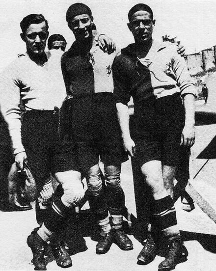 La maglia biancorossa della Fiorentina in uso nel 1926