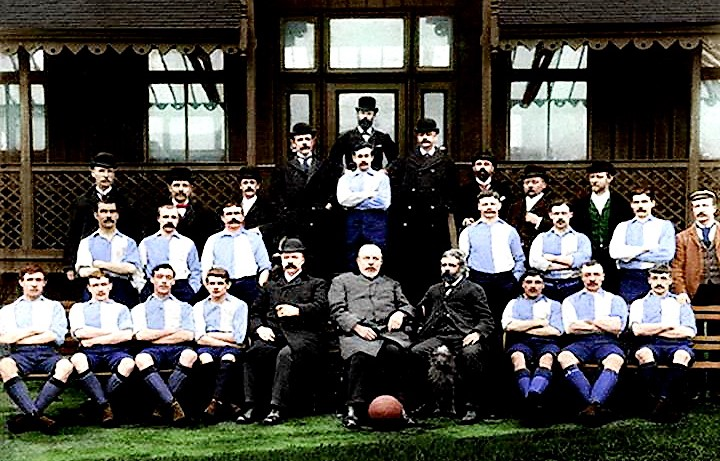 Un'immagine del Liverpool risalente alla stagione 1892-1893