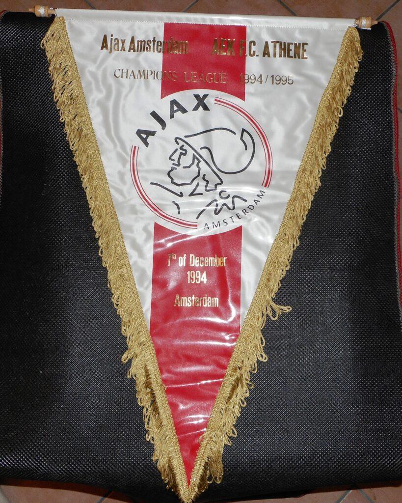 Gagliardetto incontro Ajax vs AEK Atene Champions League 1994-1995