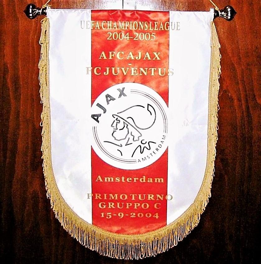 Gagliardetto della partita Ajax vs Juventus Champions League 2004-2005