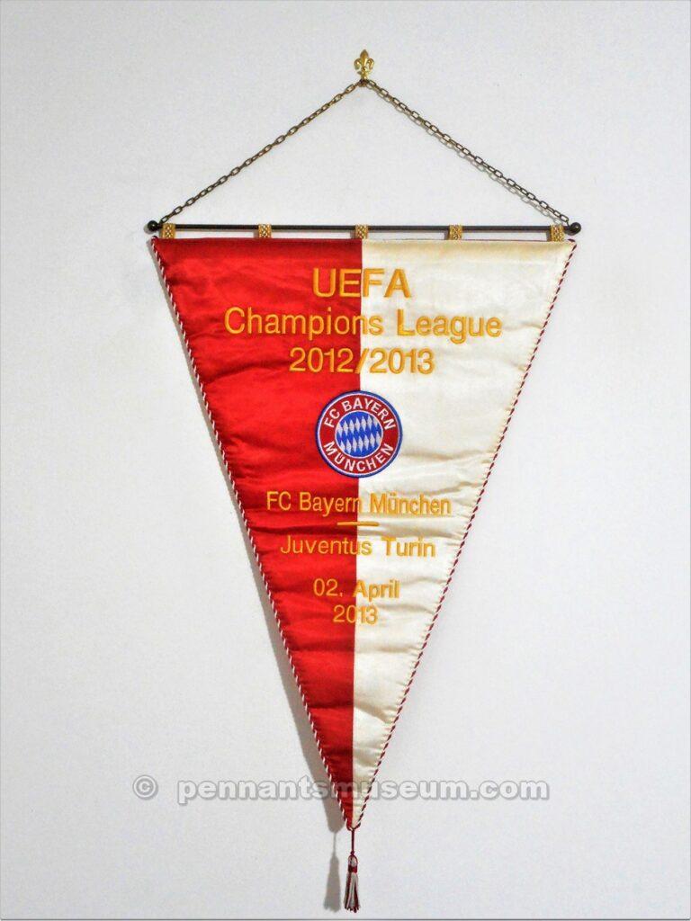 Gagliardetto della partita Bayern – Juventus quarti di finale Champions League 2012-2013