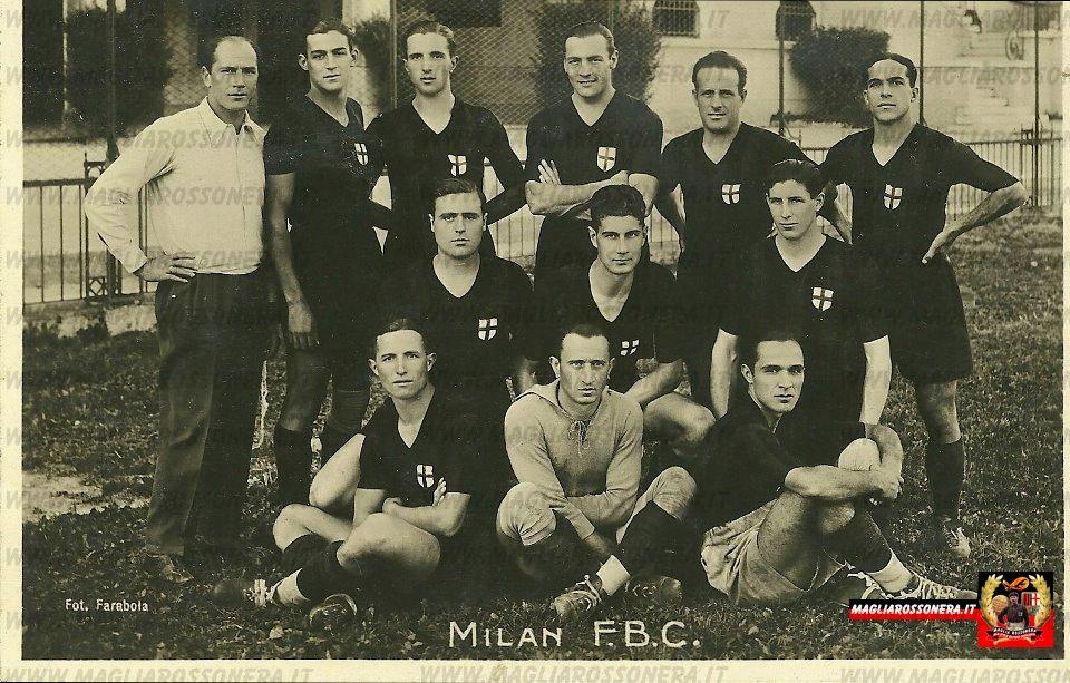 Il Milan nella stagione 1932 – 1933 (Collezione Matteo Melodia)