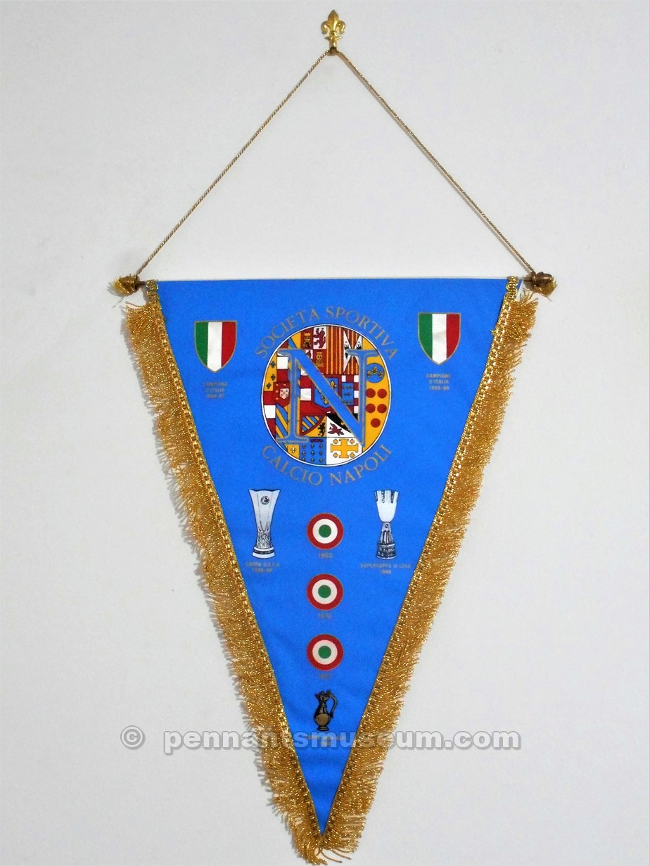 Printed pennant in use for the UEFA Cup matches in the season 1992-1993