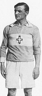 Luigi Cevenini con la maglia della Novese
