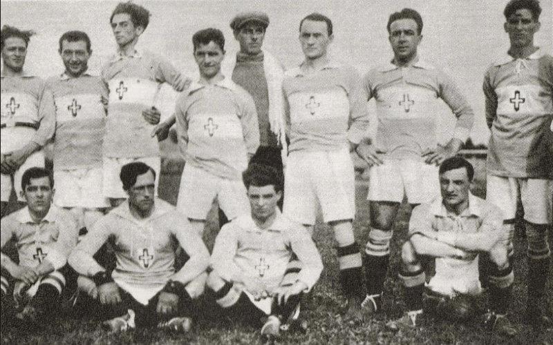 Una formazione della Novese nella stagione 1921 - 1922