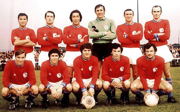 Una foto del PSG risalente alla stagione 1970-1971