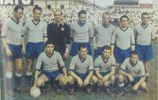 Una formazione dell'Alessandria nella stagione 1957 - 1958