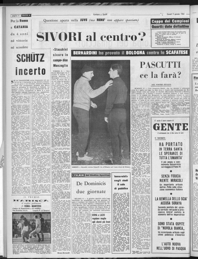 Corriere dello Sport, 9 gennaio 1964