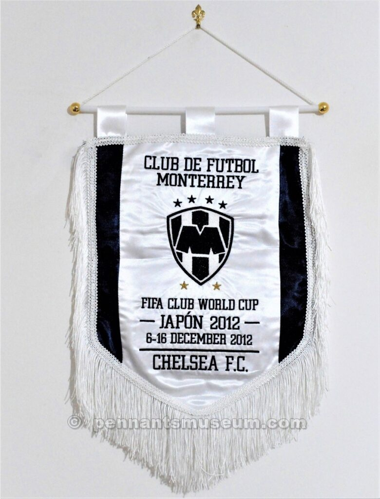 Embroidered pennant issued for the FIFA World club cup semifinal played on the 13th of December 2012