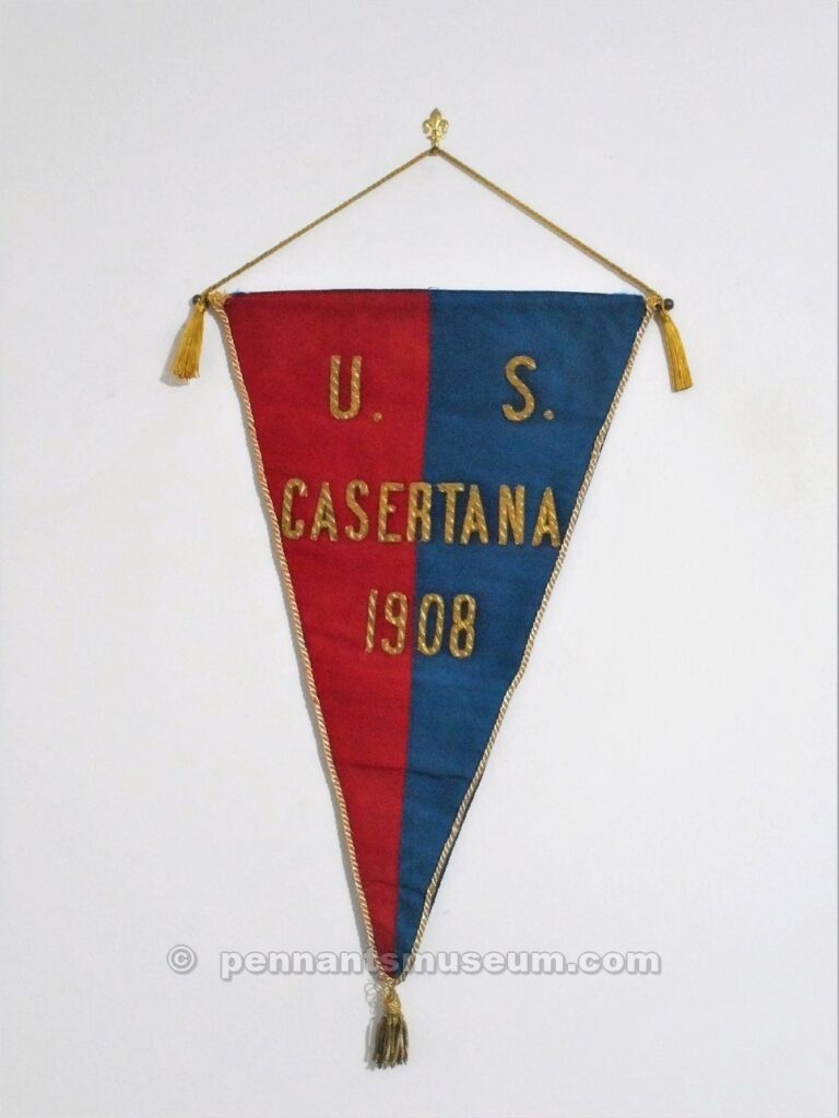 Embroidered pennant In use in the 60s