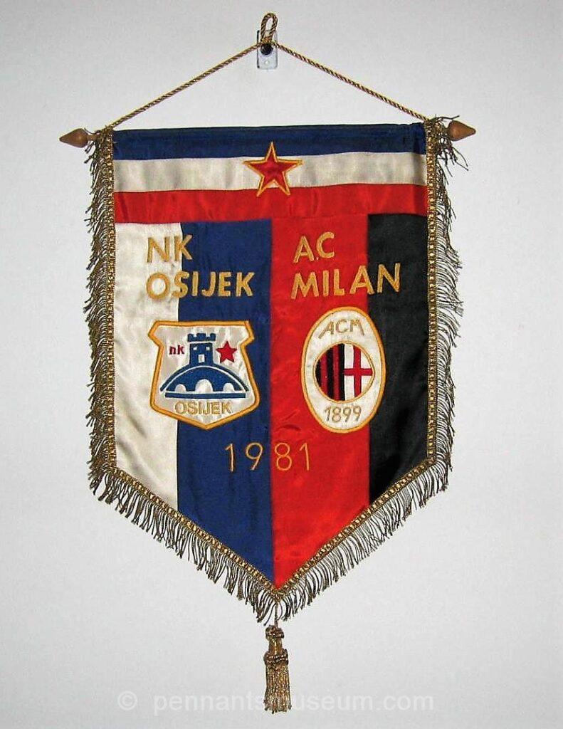 osijek nk inc. osijek nk vs milan mitropa cup 1981