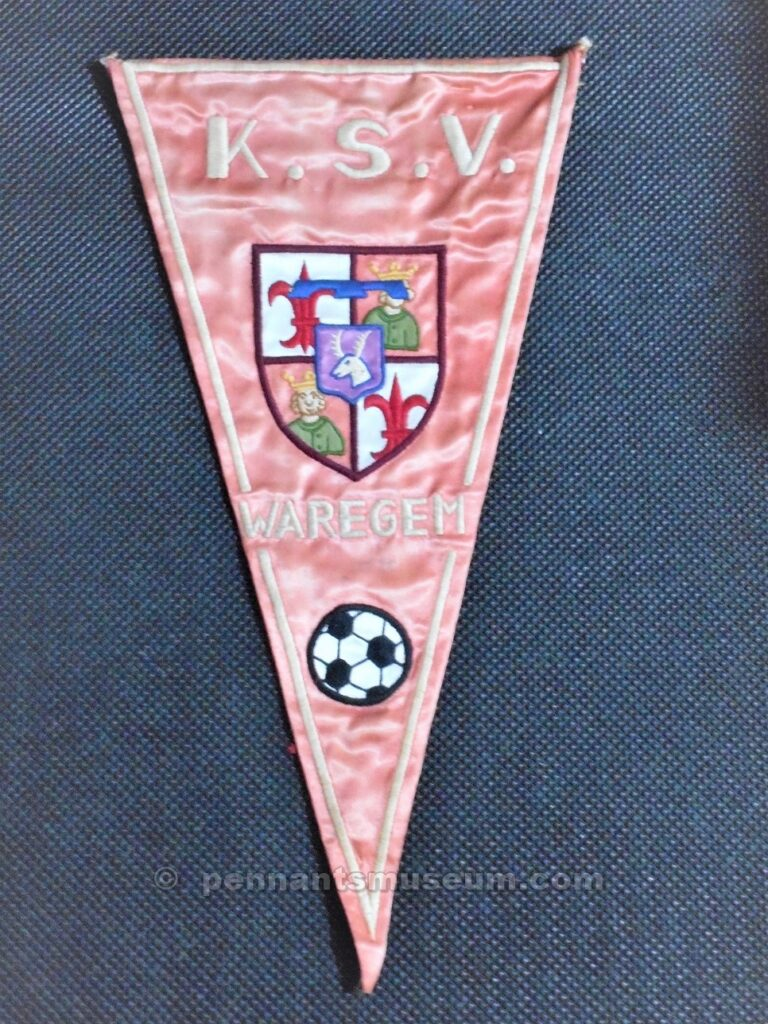 Embroidered pennant in use late 60s
