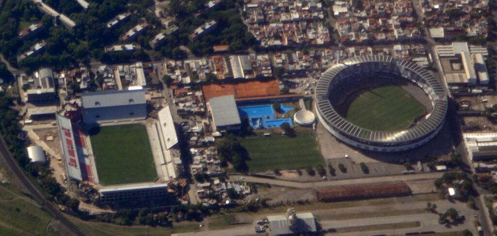Gli stadi delle due squadre di Avellaneda