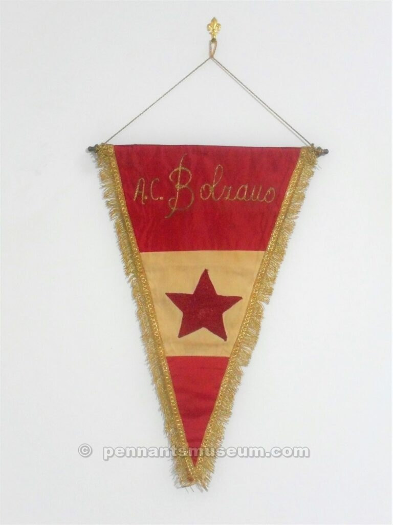 Embroidered pennant in use in early 70s