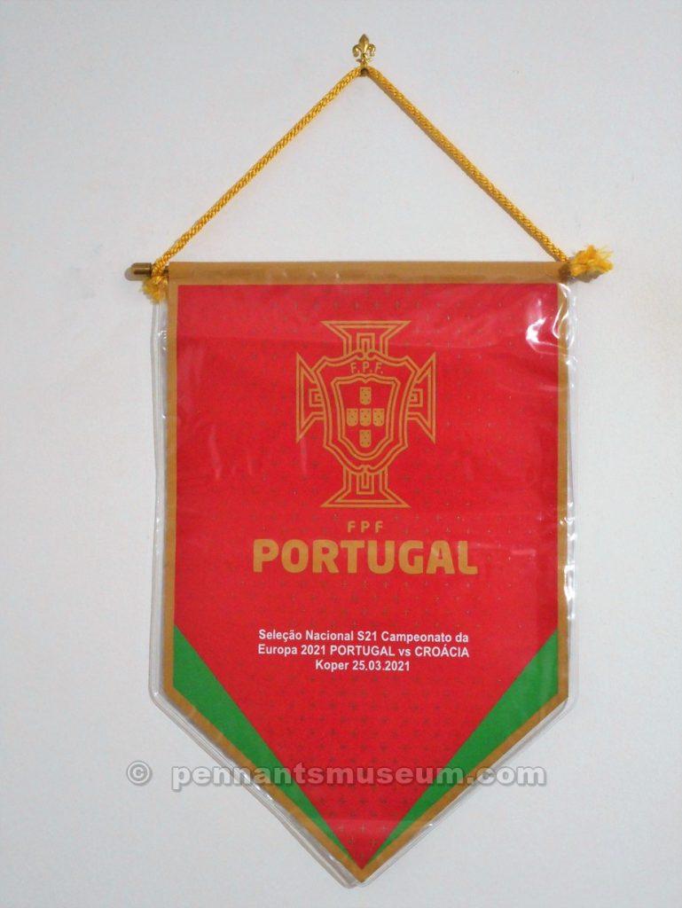 Gagliardetto stampato scambiato tra i capitani in occasione dell'incontro Croazia – Portogallo, gara valevole per i campionati europei U - 21 del 2021