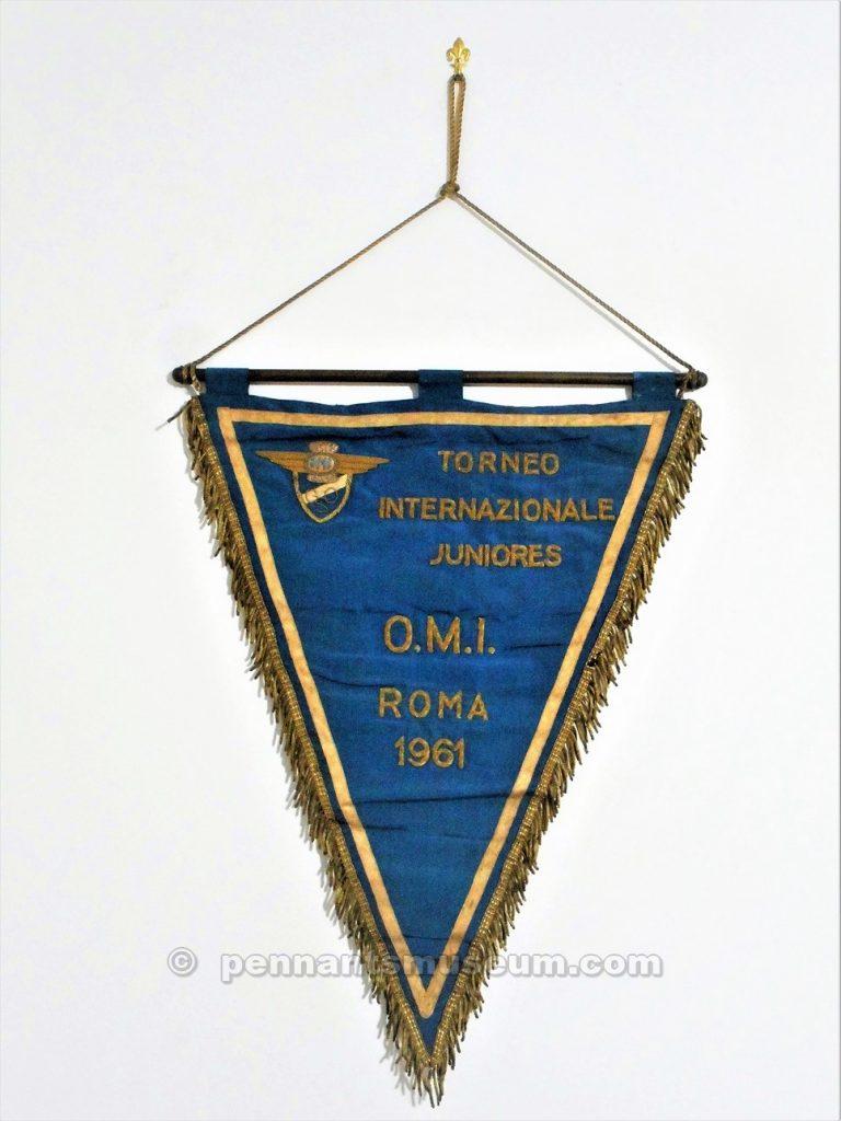 Gagliardetto ricamato realizzato in occasione del Torneo giovanile Nistri disputato nel 1961