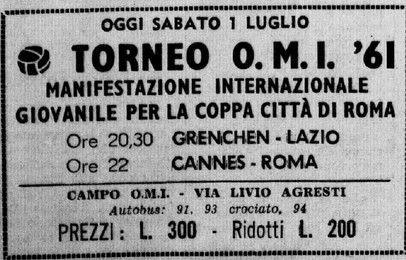 Biglietto del torneo (Fonte Laziowiki)