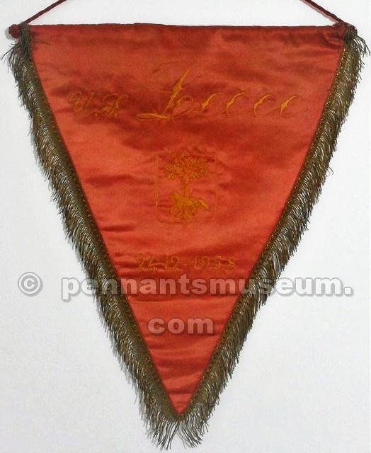 Il gagliardetto del Lecce nella stagione 1958-'59