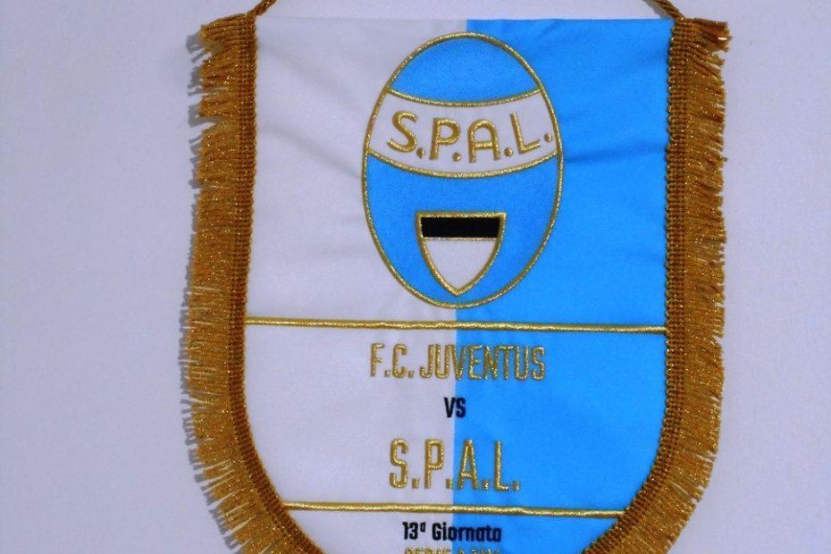 Gagliardetto ufficiale realizzato per la partita Juventus - Spal del campionato di serie A 2018 - 2019